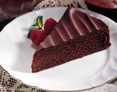 Bittersweet Chocolate Torte Recipe. Diabetic Friendly, low carb recipe from Diabetic Gourmet Magazine. DiabeticGourmet.com