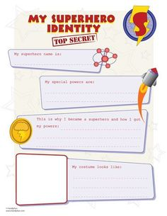 This superhero identity activity is fun for all kids. Find more superhero printables at Spoonful.