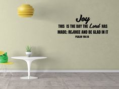 This Is The Day The Lord Has Made Psalm 118:24 Style 3 Bible Decal