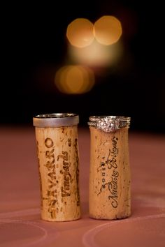 This wedding's theme was WINE - so how appropriate is this photo of the wedding rings?!  Photo courtesy of Shari Zellers Photography.