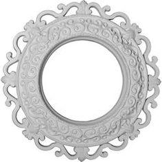 "Ekena Orrington 13-1/4"" OD Primed Urethane Ceiling Medallion with 6-5/8"" ID"