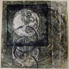 Follow your bliss...: Winter Solstice Winter Solstice, 12/14/2009, acrylic monotype on sumi paper mounted on Stonehenge paper, 8 x 8 inches