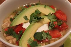 White Bean & Chicken Chili. On my blog you can find this healthy and delicious chili-twist!