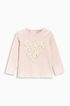 Buy Pink Embellished Heart Top (3mths-6yrs) from the Next UK online shop