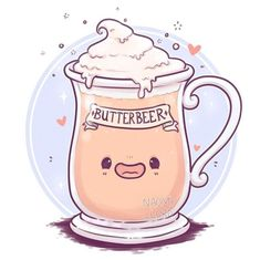 ✨💛Butterbeer💛✨ I swear it always sounded. ✨💛Butterbeer💛✨ I swear it always sounded so good in the books 🤤 I need to go back to the Harry Potter studio tour soon to grab some haha Harry Potter World, Fanart Harry Potter, Harry Potter Kawaii, Magia Harry Potter, Wallpaper Harry Potter, Harry Potter Cartoon, Cute Harry Potter, Mundo Harry Potter, Harry Potter Drawings