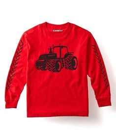 Red Tractor Long-Sleeve Tee - Toddler & Kids