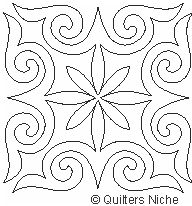 SCF-238 Classic Curves block 2 quilting design