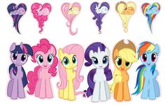 My Little Pony Friendship is Magic Group Shot Set Removable Wall Decal Stickers
