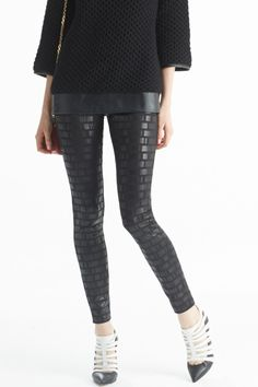 Block pattern #HUE Geo Print Jean Leggings #AllTheHUEs