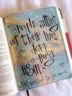 Bible Journaling | A concept of which I need to be reminded often...