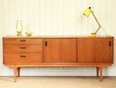 Vintage Retro Teak Nathan Sideboard Mid Century Danish DELIVERY AVAILABLE in Antiques, Antique Furniture, Sideboards   eBay
