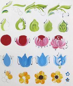 New Free Ceramics Art painting Suggestions Ideas decor painting patterns folk art Folk Art Flowers, Flower Art, Rosemaling Pattern, Tole Painting Patterns, Paint Patterns, Art Populaire, Scandinavian Folk Art, Boat Art, Fabric Painting