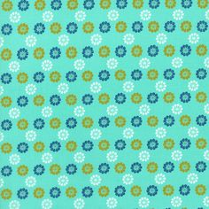 Cotton & Steel by Melody Miller, Mustang - Daisies, Turquoise - $11/yard