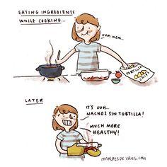 Snacking a bit before dinner.⠀ .⠀ .⠀ .⠀ #comics #comic #cartoon #webcomic #instaart #artistsoninstagram #dailylife #illustration #drawing #sketchbook #funnycomics #relatable #instadrawing #instaillustration #instasketch #sketchoftheday #adrawingaday #artstagram #haha #funny #funnyshit #relatable #tortillachips #nacho #nachos #nachotime