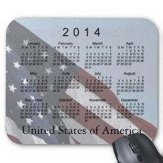American Flag 2014 Calendar Mouse Pad Design from Calendars by Janz