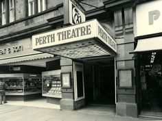 Perth Theatre n Scotland —the old canopy (with the old logo above it) before renovations in 1980 Candid Photography, Street Photography, Perth Scotland, Old Logo, Old Street, Historical Photos, Old Photos, Canopy, Theatre