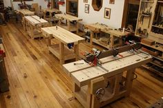 Wood Workbenches For Sale | New Old-school Benches at Kelly Mehler's School - Popular Woodworking ...