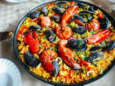 All Gourmet Seafood Paella Recipe - how to make quick and easy meals in detailed instructions. This is the right place if looking for mexican food rec Seafood Recipes, Gourmet Recipes, Mexican Food Recipes, Cooking Recipes, Ethnic Recipes, Dinner Recipes, Drink Recipes, Yummy Recipes, Seafood Paella