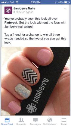 Funky manicure!  #Jamberry #jamicure #nails  Www.wrapmeupnails.jamberrynails.net Www.facebook.com/wrapmeupnails