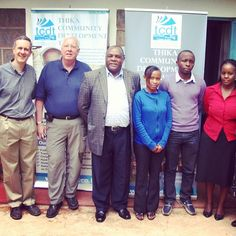 Here's a photo of Five Talents' business trainers Brad Frink (L) and Jim Oakes with the team at Thika Community Development Trust in Kenya.