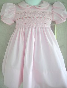 Girls  Pink Hand Smocked  Dress  Size 6 months to by GumdropGrove, $59.50