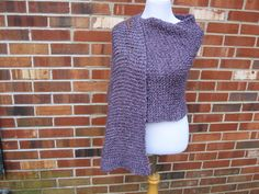 Amethyst Baroque Purple Handmade Shawl Wrap Knit in Homespun with a Pocket or not by PoppyLesti on Etsy