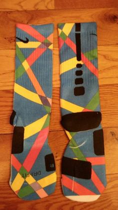 Image of Lines Custom Nike Elite Socks Mens L(8-12). Awesome socks!!!