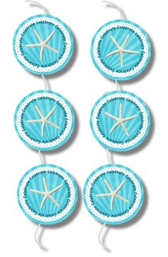 Free seastar cupcake toppers from Party Blog... awesome blog!!!