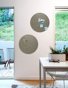 Circle Pinboard, Small in Stone Land Of Nod, Whiteboard, Wall Spaces, All Design, Fiber, Decals, Kids Rugs, Strong, Shapes