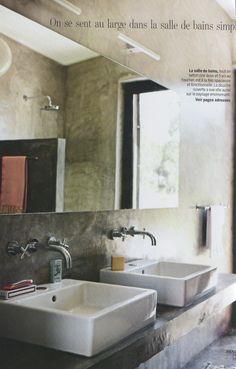 Cemented bathroom