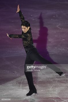 Takahiko Kozuka of Japan performs his routine during the All Japan Medalist On Ice at the Big Hat on December 29, 2014 in Nagano, Japan.