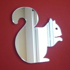 Squirrel Mirror - 5 Sizes Available plus Packs of 10 Baby Squirrel Crafting Mirrors