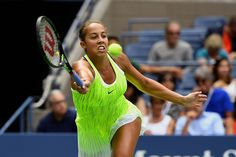 Women's round 3 action   September 02, 2016 - Madison Keys in action against Naomi Osaka during the 2016 US Open at the USTA Billie Jean King National Tennis Center in Flushing, NY.