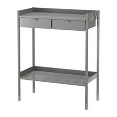 IKEA - HINDÖ, Potting bench, This potting bench has a durable top, ideal for potting, and practical storage spaces for seeds, tools and other items you want close at hand when growing plants.The drawers have pull-out stops to keep them in place.Stands evenly on an uneven floor since the feet can be adjusted.The potting bench is durable, easy to clean and protected from rust as it is made of powder-coated steel.