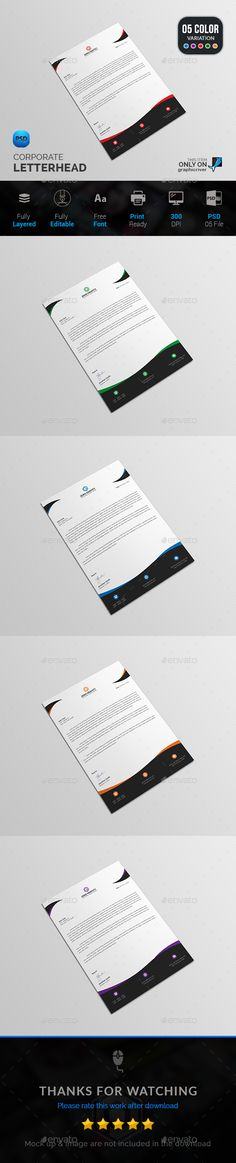 Letterhead bundle letterhead design template and stationery printing spiritdancerdesigns Image collections