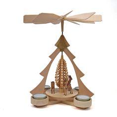 Christmas Tree Tealight Pyramid with Deer