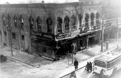 Block Bros. Department Store was on the corner of Sixth Avenue and 58th Street in downtown Kenosha, WI. The store was significantly damaged in a fire on New Year's Eve 1932. Brothers Sam and Leo Block eventually rebuilt their business with a new store at the same site. (Image courtesy of Kenosha History Center)