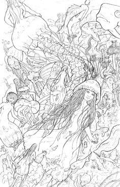 mermaid by string-fountain.deviantart