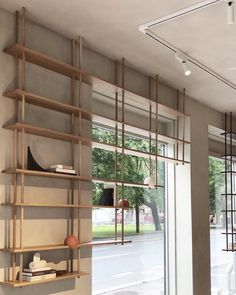ew product from Fogia - Bond shelving system in oak or walnut. Stop by for a closer look at Kollekted by Bathroom Interior Design, Modern Interior Design, Interior Decorating, Ski Design, House Design, Room Shelves, Wall Mounted Shelves, Chaise Vintage, Concept Home