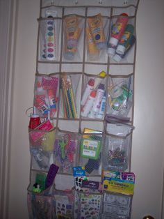 craft supplies - i love using space wisely in organizing