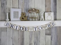 Bride To Be Banner  Bride To Be  Bridal by WeddingBannerLove