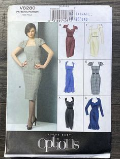 Vogue Patterns, Sewing Patterns, Pencil Dress, Peplum Dress, F 16, Bodice, Product Description, Easy, Sleeves
