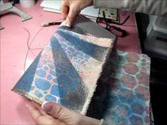 Tutorial - Simple Handmade Journal with canvas cover via Kim's Kreative Korner
