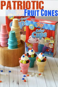 Patriotic Fruit Cones