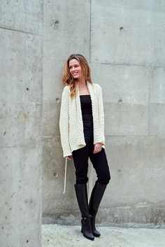 Ravelry: Check Cable Cardigan pattern by Linda Marveng