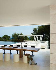 Geometric structures for shade a-cero marbella comedor exterior