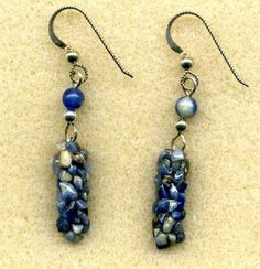 Caddisfly earrings ... interesting pretty but odd! Jewelry made by the Caddisfly @Katelyn Donahue