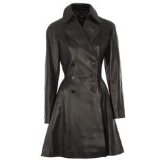 Hirshleifers - Alaia - Fitted Double Breasted Leather Swing Coat (Black), $10,850.00 (http://www.hirshleifers.com/ready-to-wear/jackets/alaia-fitted-double-breasted-leather-swing-coat-black/)