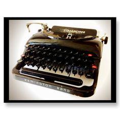 Vintage Typewriter Postcard - Remington Rand