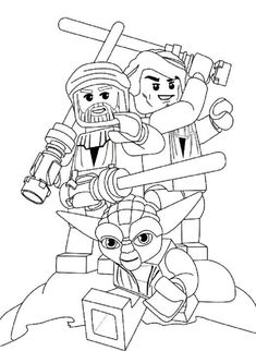Lego Star Wars Coloring Pages Games